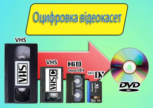 Оцифровка відеокасет Львів | Оцифровка відео у Львові